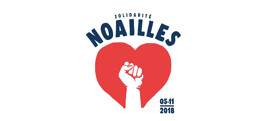 En tête avec le logo solidarité Noailles créé par eljulio