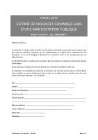 formulaire victime violences policières